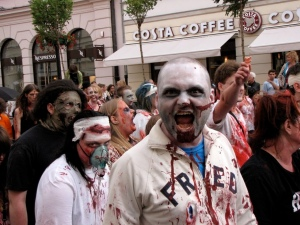 Warsaw Zombie Walk 2011, to be followed by lattes at Costa (image courtesy aeviin).