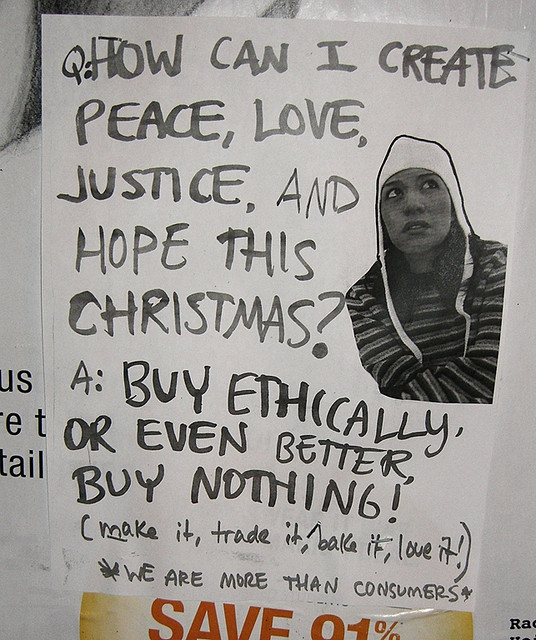 Buy Nothing 2008 poster (courtesy Toban Black).