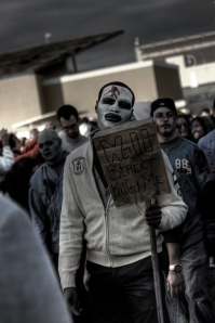 Occupy Wall Street Zombie (image courtesy e_monk).