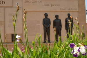 The Clayton-Jackson-McGhie memorial in Duluth (image courtesy artstuffmatters).