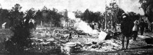 The ruins of Rosewood, Florida. First published in Literary Digest magazine on January 20, 1923 (image courtesy wikipedia).
