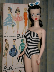 A 1959 Barbie doll (courtesy wikipedia).
