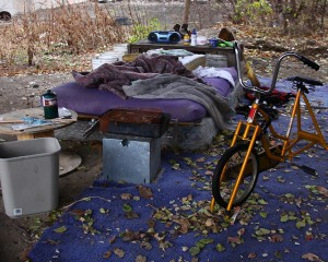 A homeless camp in Cincinnati (image courtesy a.r.briggs).
