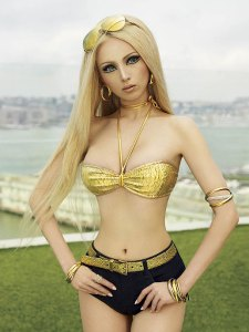 Ukranian model Valeria Lukyanova: the Barbie ideal assumes human form.