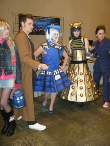 Doctor Who cosplayers at the 2010 Chicago TARDIS convention.