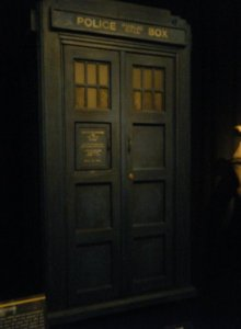 The Fifth Doctor's TARDIS at the Doctor Who Experience in London.