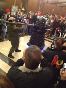 A Dalek does battle at Chicago TARDIS 2011