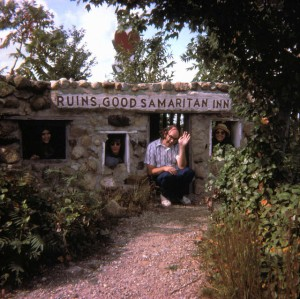 A 1974 image of Holy Land USA visitors at the Good Samaritan Inn (image courtesy)