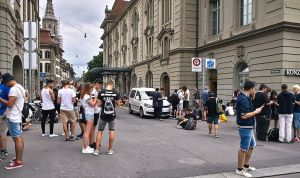 A Pokémon Go stop in Bern near the Kulturcasin (image Fred Schaerli)
