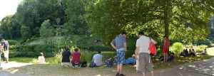 Pokemon players in a park in Brest, France (image G.Mannaerts)